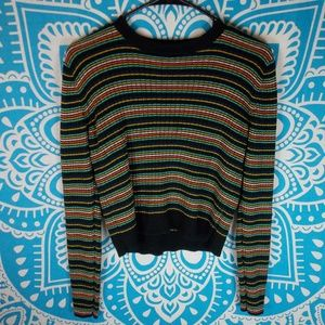 Mossimo Crop Sweater Long Sleeve Retro 90s Large L